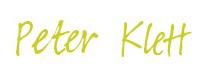 Peter Klett Unterschrift